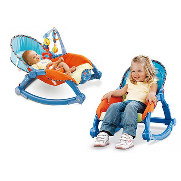 Baby เปลสั่นอัตโนมัติ และสามารถไกว เป็นเก้าอี้นั่งได้ (สีฟ้า)