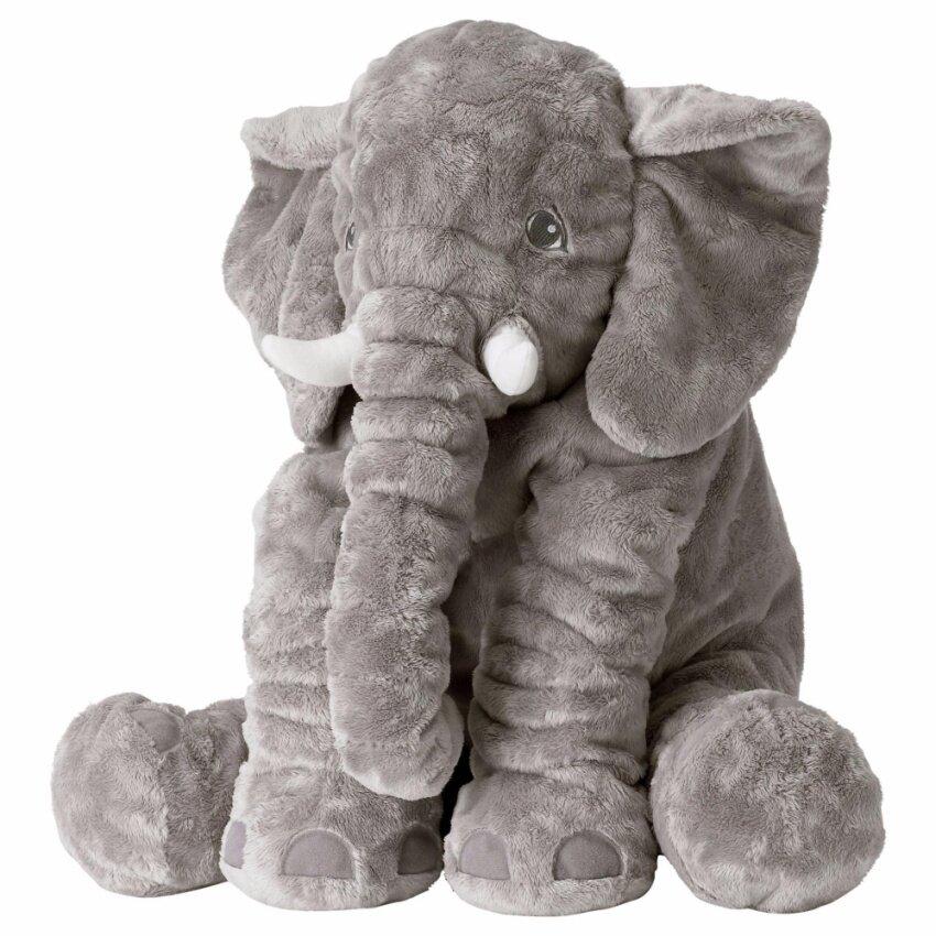 Baby ตุ๊กตาช้างตัวใหญ่ เนื้อนุ่ม ขนาด 60 ซม.สีเทา