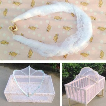 Baby Bed Tent Infant Canopy Folding Anti Mosquito Net Toddlers CotNetting - intl - 2