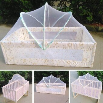 Baby Bed Tent Infant Canopy Folding Anti Mosquito Net Toddlers CotNetting - intl
