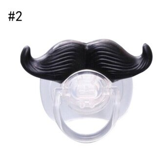 Baby Funny Dummy Dummies Pacifier Novelty Teeth Moustache Baby Child Soother Type #2 - intl