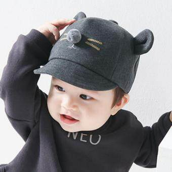 Baby Girls Boys Kids Lovely Cat Hats Newborn Cotton Caps - intl