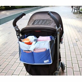 Harga Baby infant big capacity diaper bag hang bag baby stroller storage bag hand bag with hook carry bag - intl