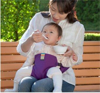 Harga Baby Infant Chair Portable Seat Dining Chair Seat Safety BeltStretch Wrap ( Purple ) - Intl