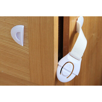 Harga Baby Infants Toddler Safety Drawers Cabinet Cupboard Door ChildrenKids Security Belt Lock - intl