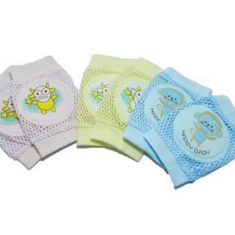 สนับ ข้อศอกเข่า สำหรับ เด็กหัดคลาน Baby Knee Pads 3 คู่ คละสี\nคละลาย