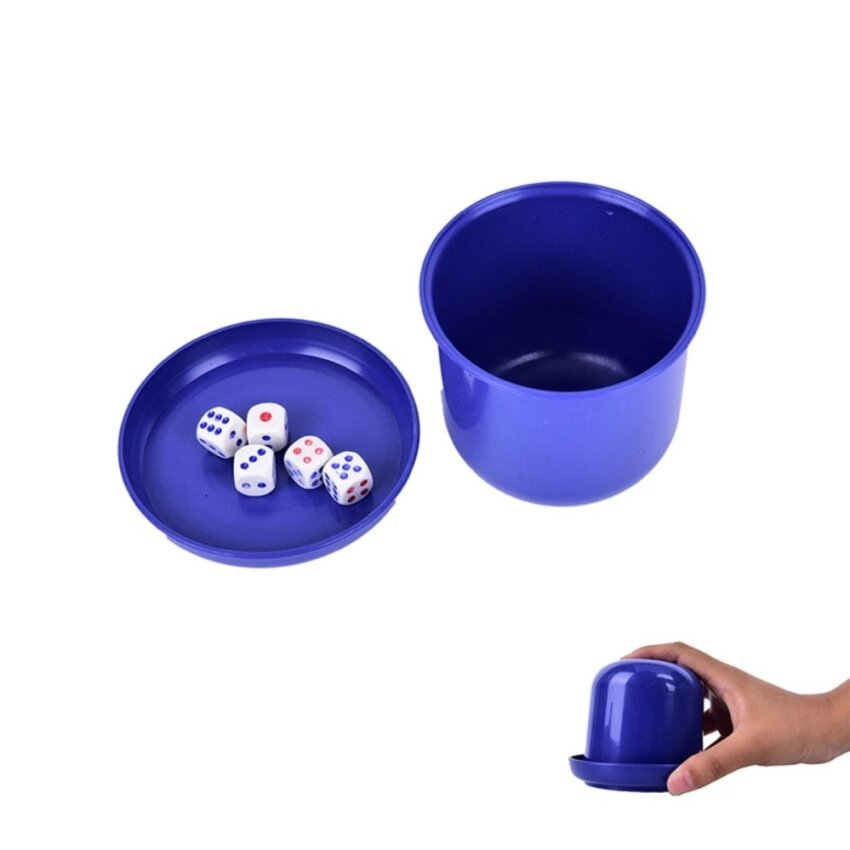 Bar Party Dice Cup Drinking Board Game Gambling Dice Box 10mm d6*5 Table Games - intl