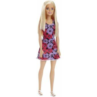 Barbie® Doll - Barbie purple & pink floral on black dress
