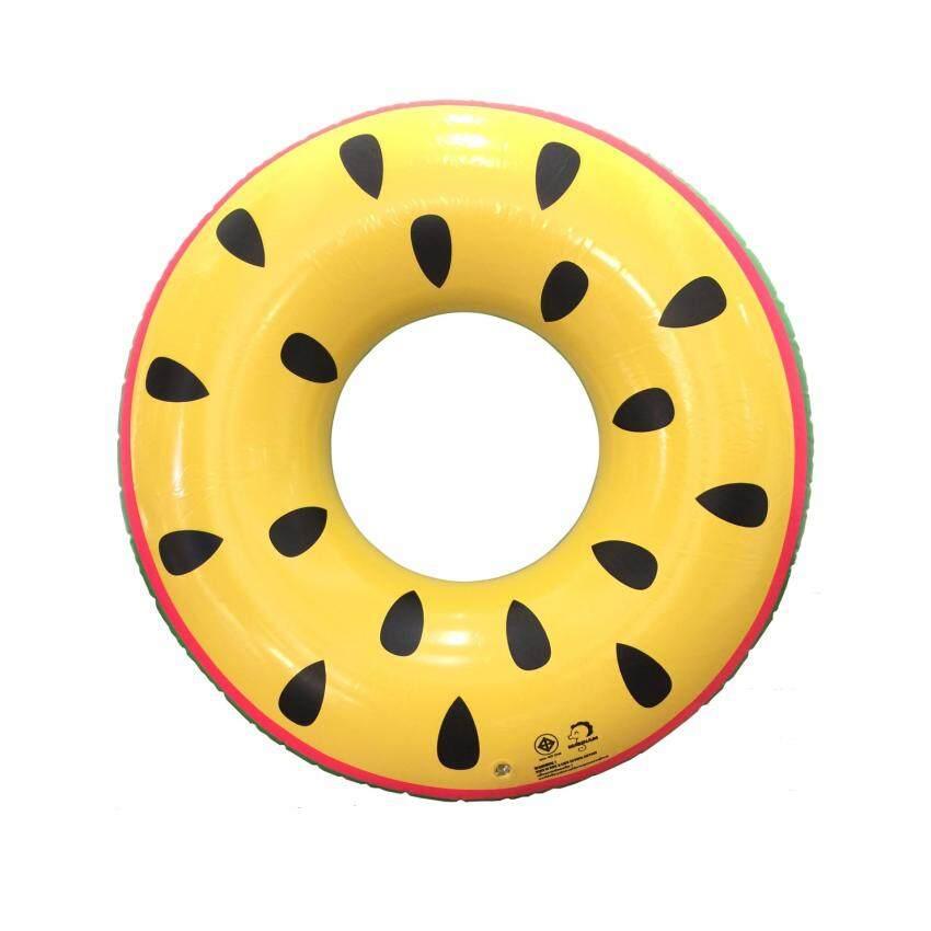 BasicAroundMeห่วงยางแฟนซีเป่าลม รุ่นแตงโมWatermelon 36 นิ้ว (Yellow)