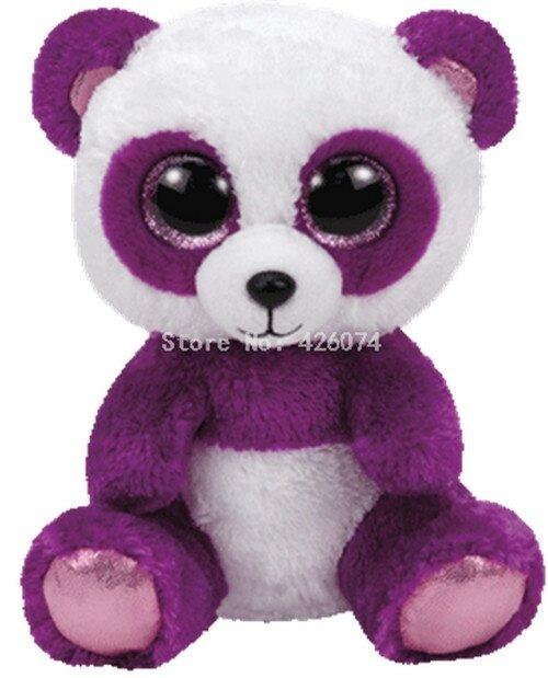 Beanie Big Eyes Cat Owl Huskies Panda Dog Leopard Giraffe Stuffed Animals Kids Plush Toys For Children Gifts 15CM - intl