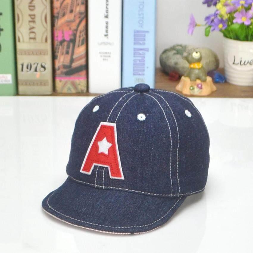 Bear Fashion Newborn Jean Style Letter A Baby Girls Boys Hats Baseball Caps - intl