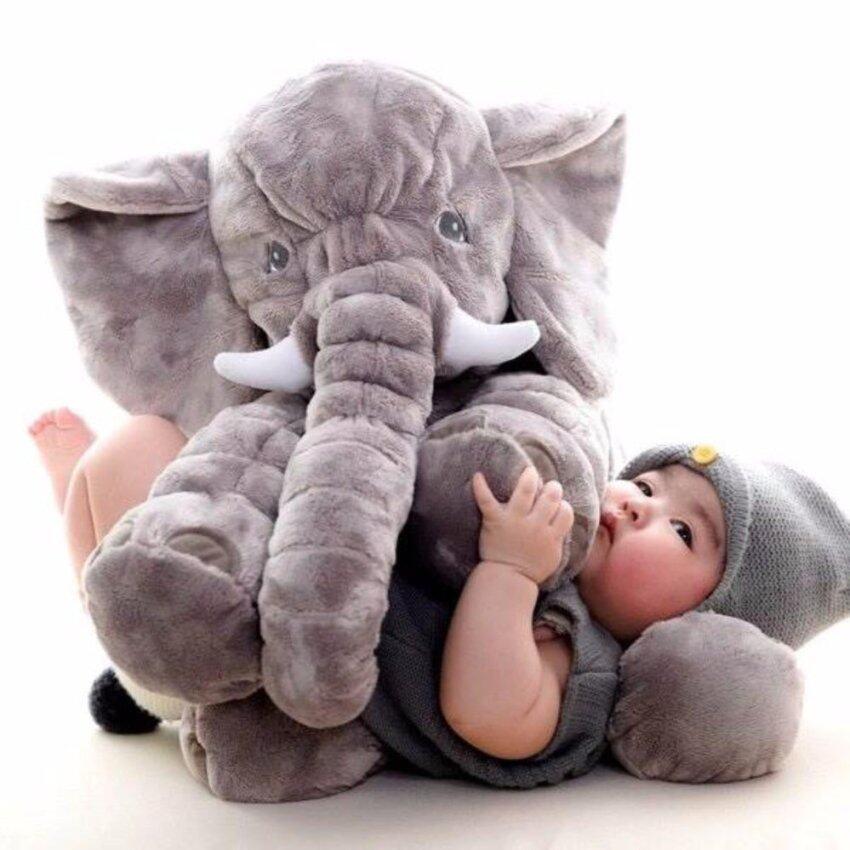 BEST ตุ๊กตาช้างตัวใหญ่ เนื้อนุ่ม น่ากอด ขนาด 60 ซม. image
