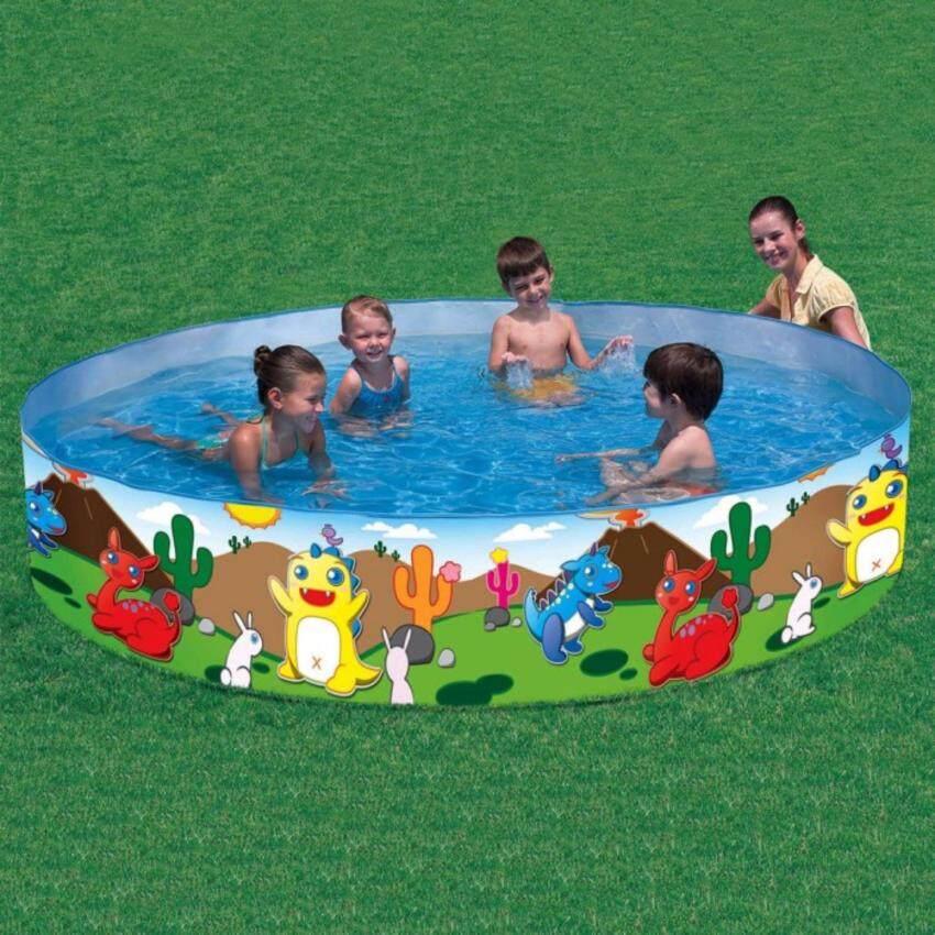 Bestway Pool สระน้ำขอบตั้ง ลายไดโนเสาร์ 6 ฟุต 183x38cm. รุ่น 55022
