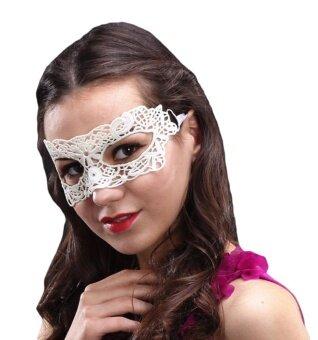 Bigood Women White Lace Venetian Masquerade Masks Eyemask HalloweenParty Flower - intl