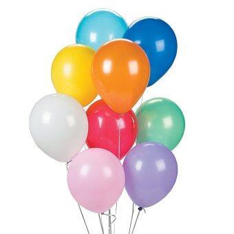 BK Balloon ลูกโป่งกลมสีมุก คละสี ขนาด 10 นิ้ว จำนวน 40 ลูก