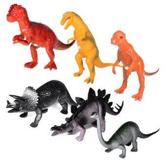 BKL TOY ไดโนเสาร์ หุ่นไดโนเสาร์ขนาด9คละแบบ6ตัว P9704Y