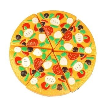 Black Horse 6PCS/Lot 3D 17Cm Classic Kitchen Toy Safty Plasticcutting Pizza Toy Simulation Pizza And Kitchen Food Toy - intl