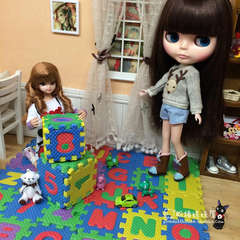 Blythe โฟมทารกจัดแต่งงานพื้นตุ๊กตาบ้านตุ๊กตา