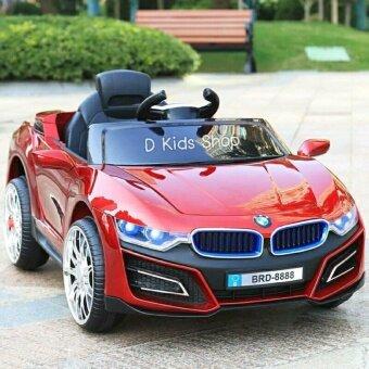 รถแบตเตอรี่เด็กนั่ง รถเด็ก ทรง BMW i8 Model รถไฟฟ้าเด็กคันใหญ่ สีแดง