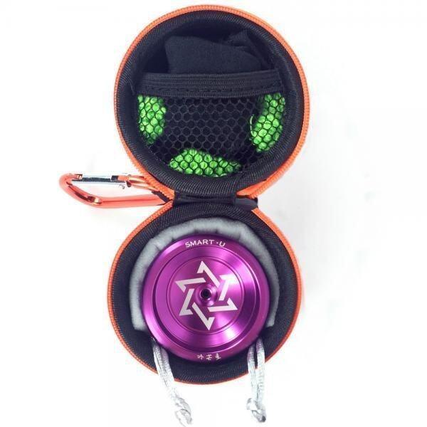 BolehDeals Cool Aluminum Professional YoYo Ball Bearing String Trick Alloy Purple - intl