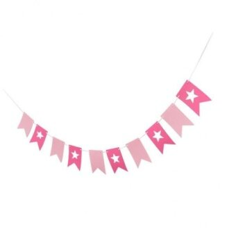 BolehDeals Felt Star Pennant Flags Bunting Garland Banner WeddingChristmas Party Decor - intl