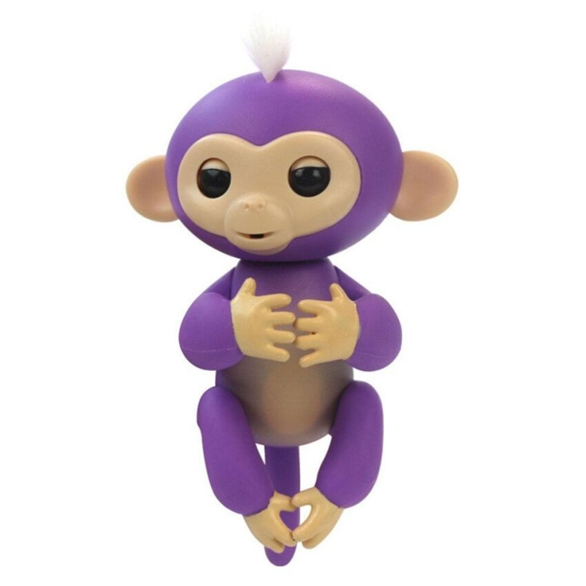 boobc Fingerlings Interactive Baby Monkeys, Little Baby Fingerlings Pet Electronic Monkey Children Kids Toy, Black - intl