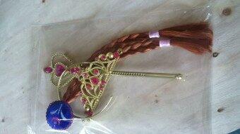 มงกุฎวิกผม braids ของเล่นไม้กายสิทธิ์