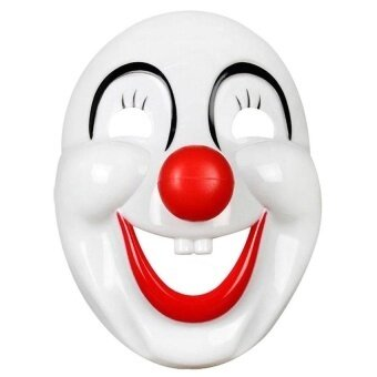 Buffoon Smiling Face Halloween Masquerade Party Maskfunny Toy White - intl