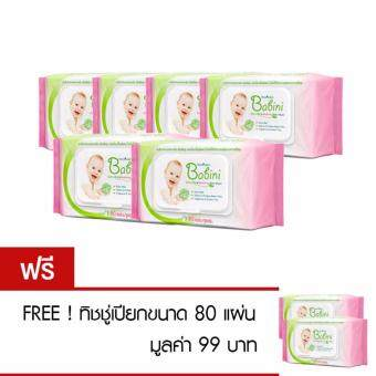 Harga Buy 6 get 2 PROVAMED BABINI BABY WIPES 80 SHEETS