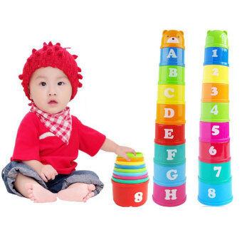 BYL Baby Health วงกลม Baby Toys เลเยอร์ of STACK CUP popheko