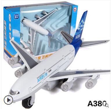 Caipo A380 โลหะผสมการบินเครื่องบินรุ่น acousto แสงไฟฟ้า Warrior ของเล่น