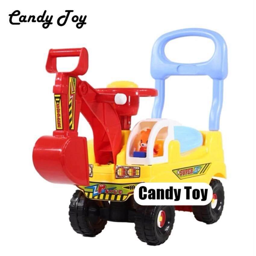 Candy Toy  รถเเมคโครขาไถหมีน้อย