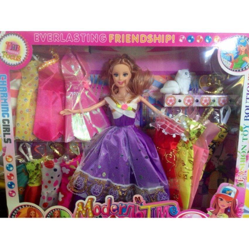 Candy Toy Shop  ตุ๊กตา  ตุ๊กตาบาบี้  ตุ๊กตาเจ้าหญิง เเต่งตัวตุ๊กตาเปลี่ยนชุดได้  มีเเมวเเละโทรศัพท์