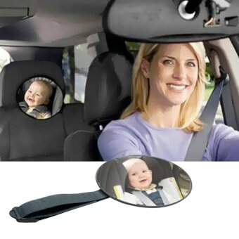 Harga Car Safety Easy Child Care Safety View Back Seat Mirror Baby FacingRear Baby Kids Monitor - intl
