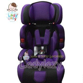 ladylazyคาร์ซีท(car seat) ที่นั่งในรถยนต์ขนาดใหญ่ No.SQ303 สีม่วง
