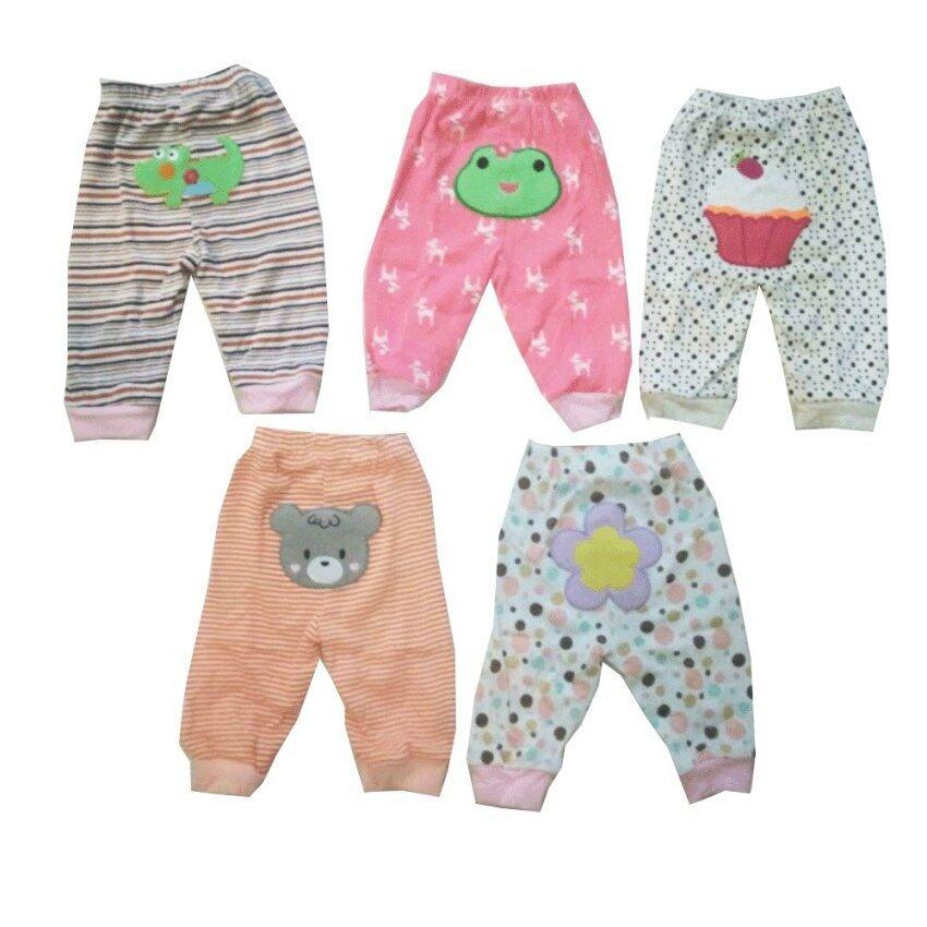 Carter ชุดเซ็ตกางเกงขายาว 5 ตัว 5 ลาย สำหรับเด็ก 3-24 เดือน โทนสีเด็กหญิง