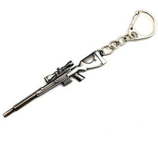 CF โจวเบียนอาวุธอัลลอยพวงกุญแจปืนตาย