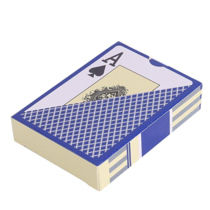 CHEER Waterproof Durable PVC Scrub Type Plastic Playing Cards Novelty Poker Card blue - intl
