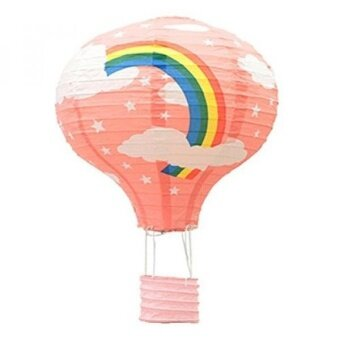 Cheeseland-- amazing paper lanterns for party decoration hanging decoration decorate in home bars etc. (11.81inch  pink rainbow) - intl