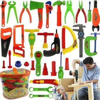 Children Kids Pretend Play Craftsman Carpentry Repair Toy Tools KitSet - intl