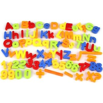 Children Magnetic Alphabet Letter Maths Number Symbol FridgeMagnets Set 80Pcs - intl