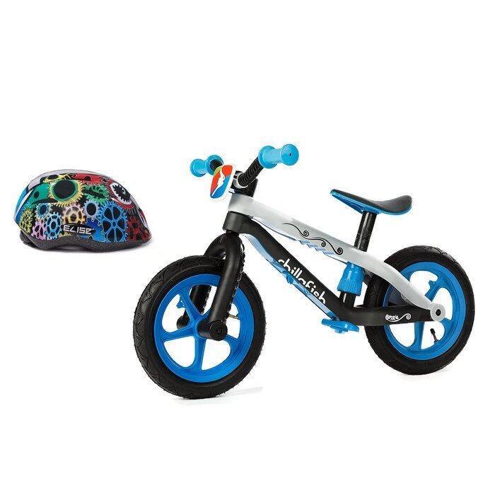 Chillafish BMXie จักรยานทรงตัว (สีน้ำเงิน) + Elise' หมวกจักรยานเด็ก (สีดำ) Size S