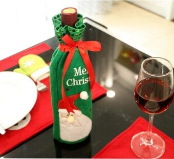 Christmas decorations  wine bottle sets  Christmas decorations  red wine gifts  gift bags - intl