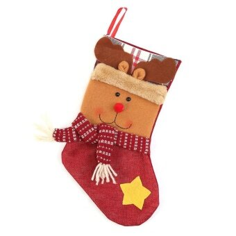 Christmas Sock Children Candy Gifts Bag Party Decor(Red) - intl