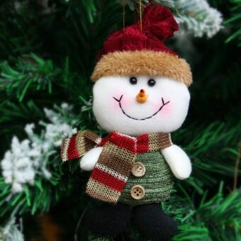 Christmas Tree Ornaments Party Elk Snowman - intl