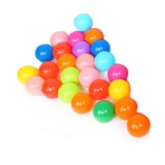 Harga colorful ball Soft Plastic ocean ball funny baby kid Swim Pit Toy25pcs - intl