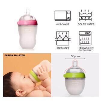 Comotomo Baby Bottle Slow Flow ขวดนมซิลิโคนเสมือนเต้านมมารดาโคโมโตโมสำหรับเด็ก 5ออนซ์ สีเขียว - 3