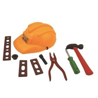 Construction Worker Role Play Boys Toy Hat Hammerscrewdriverplier Set - intl