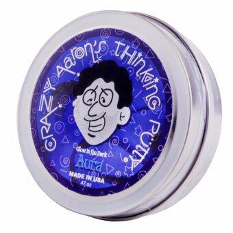 Crazy Aaron 's Thinking Putty รุ่นเรืองแสงในที่มืด สีน้ำเงินม่วงAura กระปุกเล็ก ดินน้ำมันวิทยาศาสตร์ ไม่มีวันแห้ง เด้งได้ ปั้นได้ไม่มีวันแห้ง เด้งได้ ปั้นได้ ไม่ใช่สไลม์ มี มอก. - 2