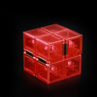 Harga Creative Infinite Cube Infinity Cube Magic Fidget Cube Office FlipCube Puzzle Relief Focus Anxiety Stress Toys ADHD GiftStyle:Transparent red - intl